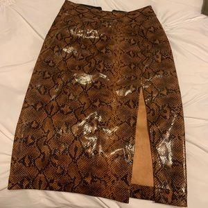 Snakeskin pencil skirt